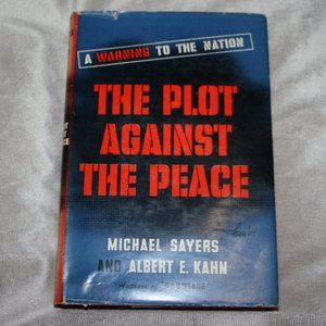 Vintage book The Plot against the Peace Sayers